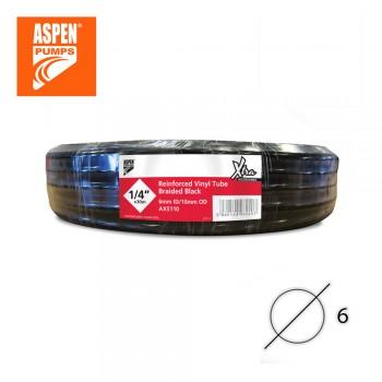 Чёрный дренажный шланг армированный ASPEN Pumps 1/4″ 6 мм AX5110