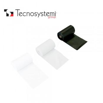 Лента чёрная ПВХ без клея 25м X 10см Tecnosystemi