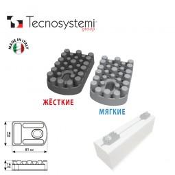 Антивибрационные подкладки для напольных опор (2 мягких + 2 жёстких) Tecnosystemi