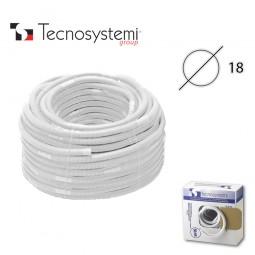 Дренажный шланг Tecnosystemi универсальный D18 двухслойный с манжетой D16/18 (1м)
