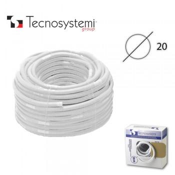 Дренажный шланг Tecnosystemi для короба D20 однослойный с манжетой D18/20 (1м)