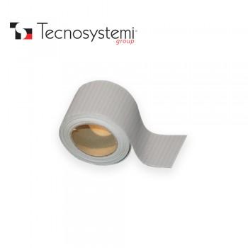Гофрированная ПВХ лента серая без клея 25м X 5см Tecnosystemi