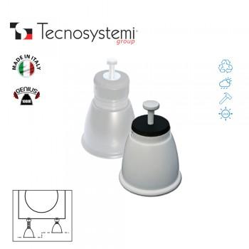 Регулируемые опоры антивибрационные Genius 1000R (слоновая кость) Tecnosystemi