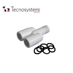 Y-образный разветвитель для шланга D18-18 Tecnosystemi