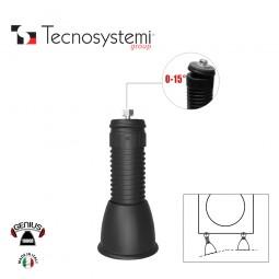 Регулируемая напольная опора с шарниром Genius 1000R (чёрный) Tecnosystemi