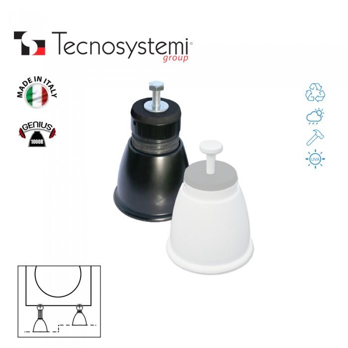 Регулируемые опоры антивибрационные Genius 1000R (чёрный) Tecnosystemi