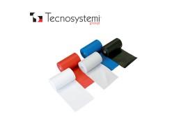 Лента красная ПВХ без клея 25м X 10см Tecnosystemi<br>