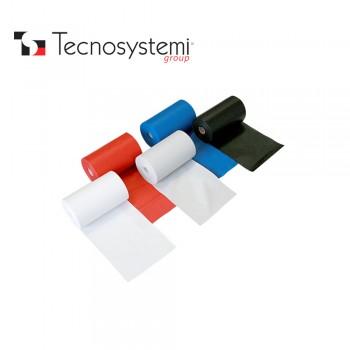 Лента красная ПВХ без клея 25м X 10см Tecnosystemi