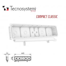Монтажная коробка с крышкой на защёлках Compact-Classic Tecnosystemi