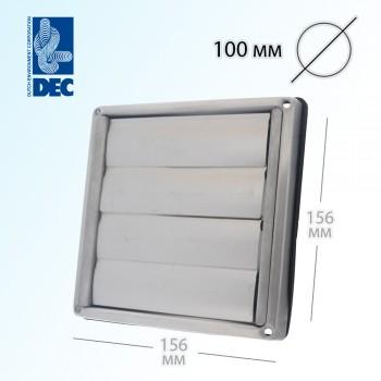 Выход стенной с заслонками 100 мм DEC D5100100