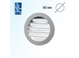 Решётка алюминиевая 80 мм с сеткой DEC DSAV080C<br>
