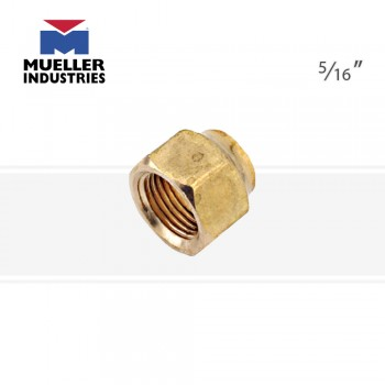 Короткая кованая гайка Mueller NS4‐5 латунь
