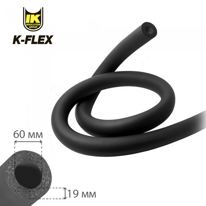 Изоляция для труб K-Flex EC 19х60мм 2м