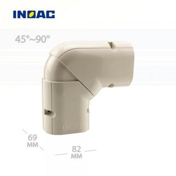 Короб декоративный INOAC NX-75 (угловой 45°~90°, горизонтальный)