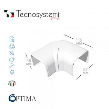Короб декоративный Optima CPS 62 (шарнирный отвод 80°- 140°) Tecnosystemi