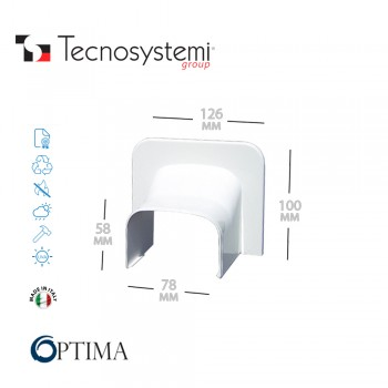 Короб декоративный Optima TA 75 (угловой торцевой элемент) Tecnosystemi