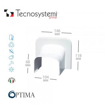 Короб декоративный Optima TA 102 (угловой торцевой элемент) Tecnosystemi