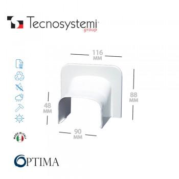 Короб декоративный Optima TA 62 (угловой торцевой элемент) Tecnosystemi