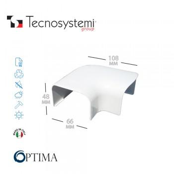 Короб декоративный Optima CP 62 (плоский угол) Tecnosystemi
