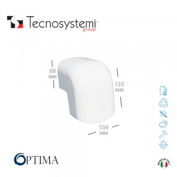 Короб декоративный Optima CAE 102 (внешний угол) Tecnosystemi