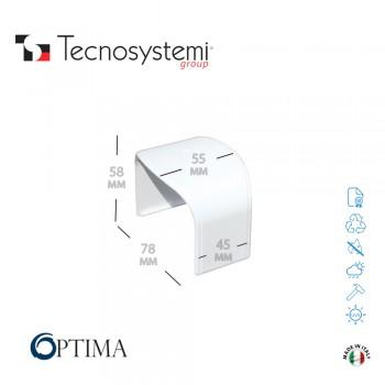 Короб декоративный Optima MG 75 (соединительная муфта) Tecnosystemi