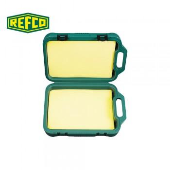 Ящик зеленый пластиковый с поролоном Refco M4-6-14