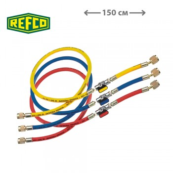"""Шланги заправочные Refco CCL-60-CA 1/4"""" SAE (150см)"""