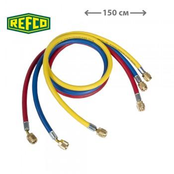 """Шланги заправочные Refco CCL-60 1/4"""" SAE (150см)"""