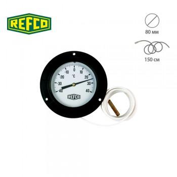 Термометр с крепежным фланцем Refco F-87-R-80-1,5