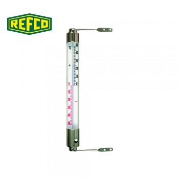 Термометр настенный, хромированный Refco 15161