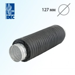 Шумоглушитель черный 127 мм x 0,5 м DEC Sonodec 25 GLX Combi