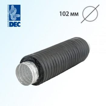 Шумоглушитель черный 102 мм x 0,5 м DEC Sonodec 25 GLX Combi